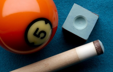 Pool Cue Ball and Chalk 146887239