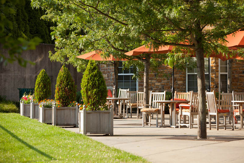 Enjoy your meal alfresco on our beautiful outdoor patio.