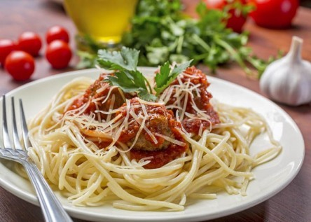 Spaghetti with Meatballs in Tomato Sauce Westchester Assisted Living