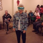 Pauline was rocking her masquerade mask for Halloween!!!