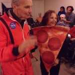 Frank was John Glenn, famous astronaut and Eleanor was a yummy slice of pizza.