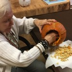 Edith on pumpkin number two!!!