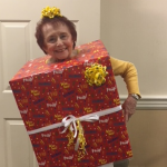 Ruth - our resident costume contest winner! Party-in-a-box!