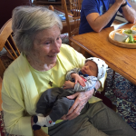 Ann and her great-grand baby.