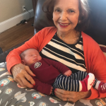 Eleanor and her great-grandson.